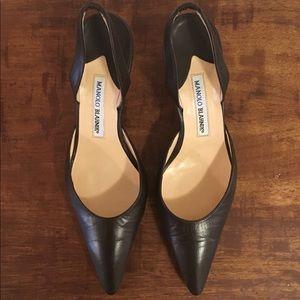 Manolo Blahnik Slingback Heels - Size 39 1/2
